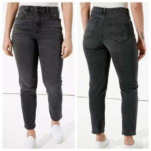 NWT American Eagle Curvy Mom Jeans in Rocker Black